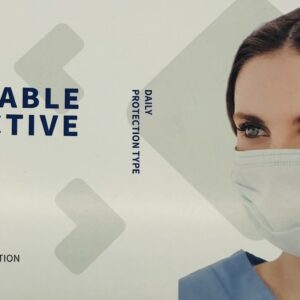 """Disposable Protective Mask Box 50 """"3 Layers"""""""