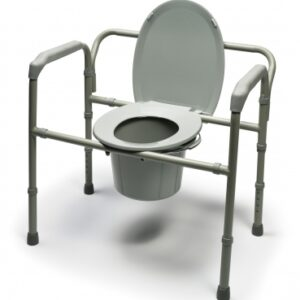 Folding Commode Chair McKesson Fixed Arm