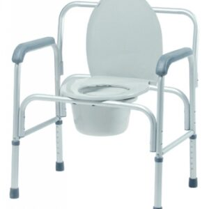 Bariatric 3-in-1 Aluminum Commode