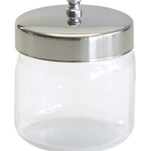 Unlabeled Flint Glass Dressing Jars With Covers
