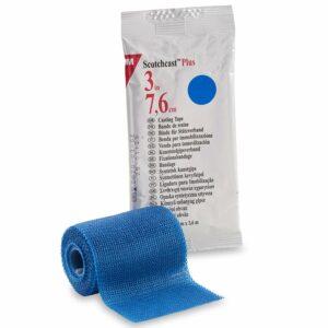 3Mª Scotchcastª Plus Blue Cast Tape, 3 Inch x 4 Yard