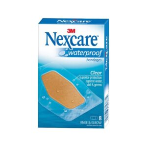 3M Nexcare Waterproof Bandages, Clear, Flexible, Latex-Free