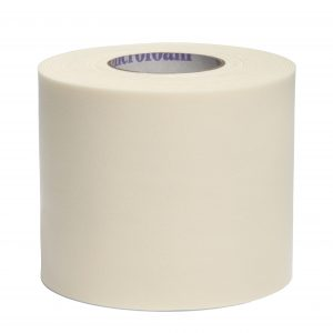 3M Microfoam Surgical Tape, Water-Resistant, Foam/Acrylic Adhesive, Elastic, White, 2_ x 5-1/2 yds, 6/Box